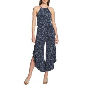 1.state floral Ruffle-Hem Afternoon Jumpsuit